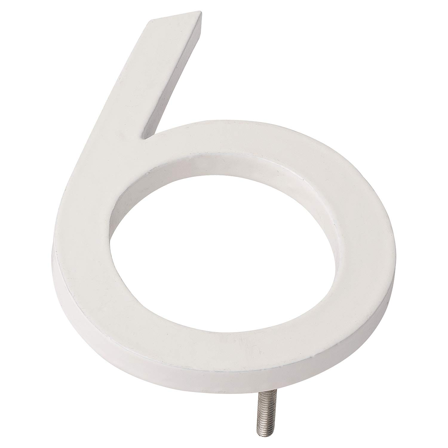 Montague Metal Products MHN-10-6-F-WE1 Floating House Number, 10 inches x 7.25 inches x 0.375 inches White
