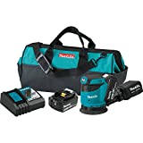 Makita XOB01T 5.0 Ah 18V LXT Lithium-Ion Cordless 5″ Random Orbit Sander Kit