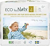 Eco by Naty Premium Disposable Baby Diapers for Sensitive Skin, Size 4, 6 Pack of 26 (156 Diapers) (Chemical, dioxin, Fragrance Free)