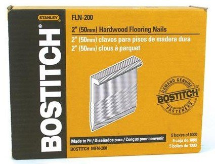 - Bostitch Fln-200 5000 Count 2 Inch L Shaped Hardwood Flooring Cleat Nails