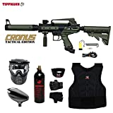 zephyr chest protector - Tippmann Cronus Tactical Beginner Protective CO2 Paintball Gun Package - Black / Olive