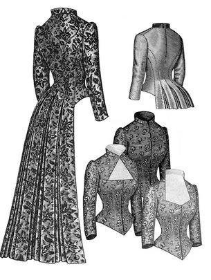 Patterns Sewing Victorian (1883 Tailed Victorian Bodice Pattern)
