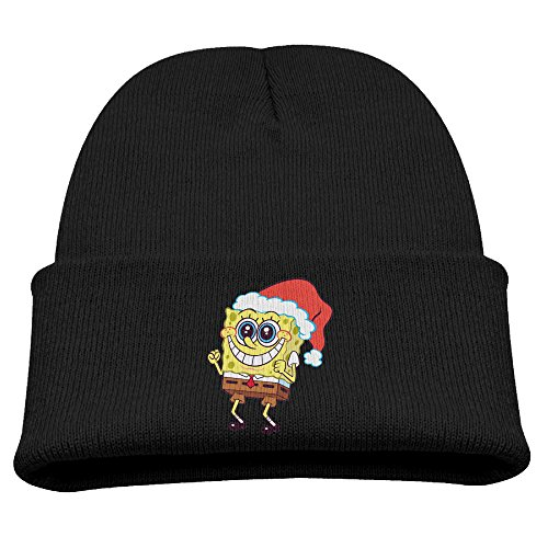 SpongeBob Merry Christmas Kids Soft Black Winter Hat Beanies Cap