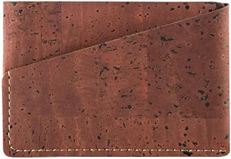 Minimalist Front Pocket Wallet Slim Vegan Wallet for Men, Durable Cork