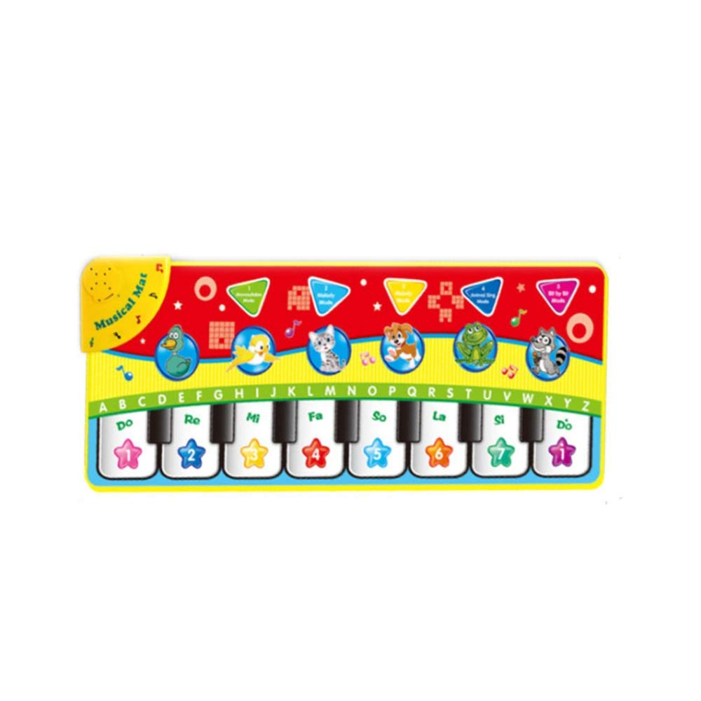 Play Keyboard Mat Foldable 28 Inches 8 Keys Cartoon Kids Design Electronic Musical Keyboard Playmat Floor Music Carpet Animal Keyboard Piano Dancing Activity Mat Step And Play Instrument Toys For Todd