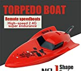 Vovotrade Remote Control Boat RC 4CH 2.4G Racing Waterproof Remote Outdoor Toys (Red)