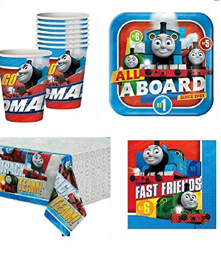 - Thomas The Train All Aboard Party Pack for 16 Guests