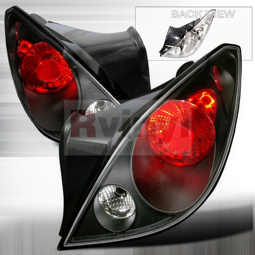 Spec-D Tuning LT-G605JM-TM Pontiac G6 Gt Gtp Gxp Se 2Dr Coupe Black Altezza Tail Lights ()