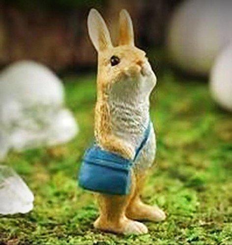 Fairy Garden Miniature Messenger Rabbit TC4617 Dollhouse Figurine - My Mini Fairy Garden Dollhouse Accessories for Outdoor or House Decor