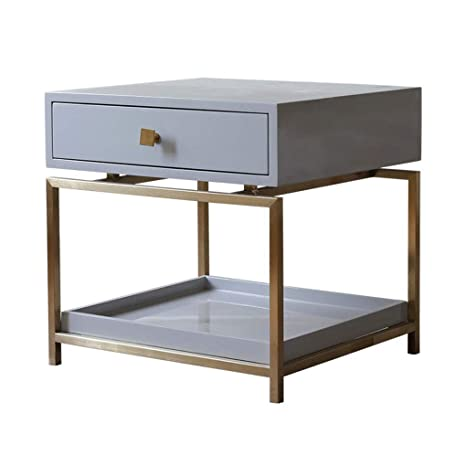 Phenomenal Aoeiuv Iron Sofa Side Table Nordic Living Room Bedroom Ncnpc Chair Design For Home Ncnpcorg