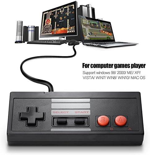 2 Pack Classic USB Controller for NES Gaming, miadore PC USB NES Controller Retro Game Pad Joystick Raspberry Pi Controller for Windows PC Mac Linux RetroPie NES Emulators 51IX 2BeEtDXL