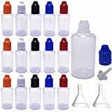 (30 Pack, 30ml) LDPE Dropper Bottle Funnel Eliquid Applicator Squeeze Dropping Bottle with Thin Tip