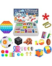 Hihere Fidget Toys 24 dagen adventskalender Pack Blind Box Anti Stress Toys Kit Sensory Stress Relief Figet Speelgoed Kids B