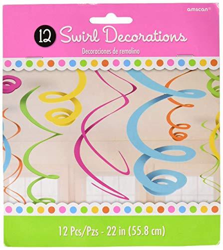 Amscan Multicolored Plastic Swirls, 12 Ct. | Party Decoration