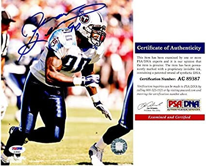 Jevon Kearse Signed - Autographed Tennessee Titans 8x10 inch Photo -  PSA DNA Certificate of 5682b6b89