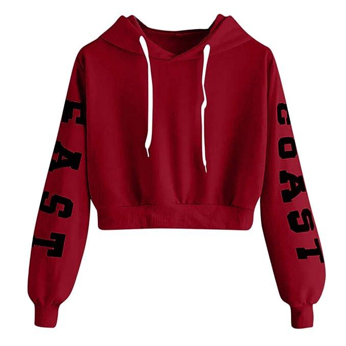 : DRAGONHOO Letters Long Sleeve Sweater for Women