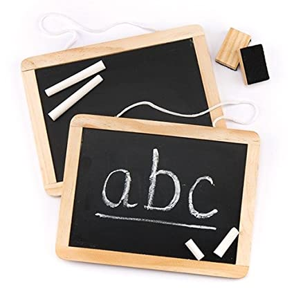 Baker Ross Wooden Chalk Board Sets - Perfect Craft Supplies for Boys and Girls (Pack of 2)
