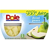 Dole Diced Pears in 100% Juice, 4 oz