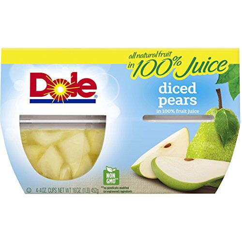 Dole Diced Pears in 100% Juice, 4 oz (Pears Dole)