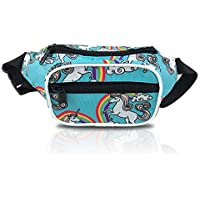 Nineteen80something Fanny Pack For Children/Kids Size Waist Bag/For Boys, Girls, Toddlers And Babies (Unicorn Blue)