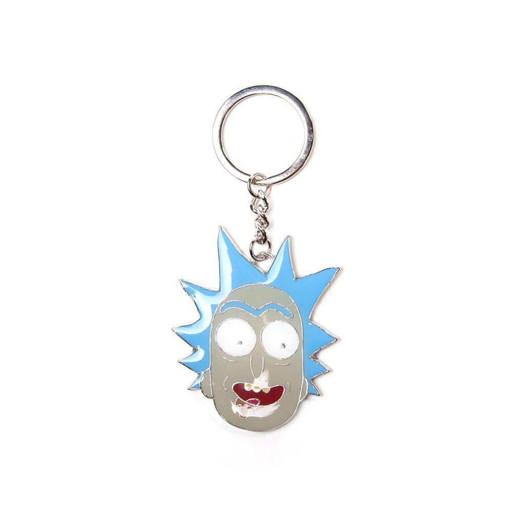 Llavero de Metal con Colgante de Cara Grande de Rick y Morty ...