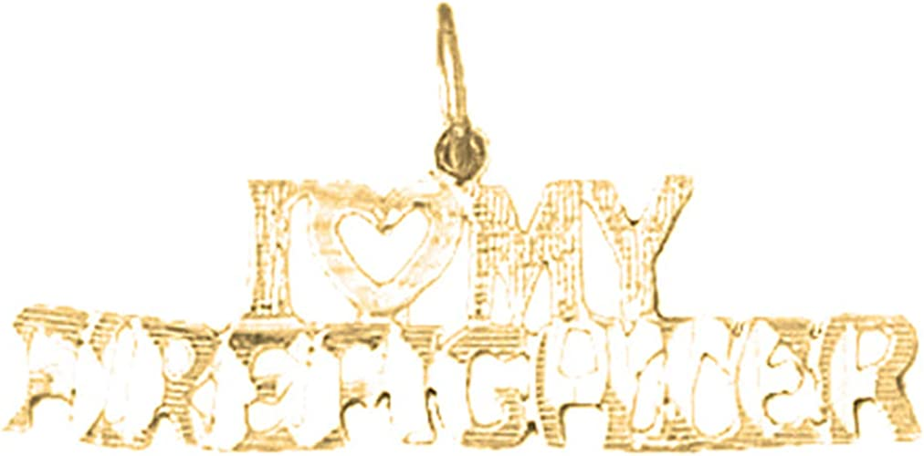 15 mm 14K Yellow Gold Love Pendant Jewels Obsession Love Charm Pendant