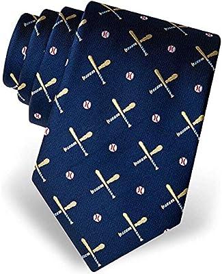 Corbata deportiva de 100% seda para hombre, bates y pelotas de ...