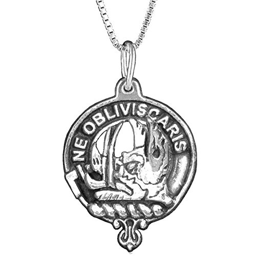 Campbell (Argyll) Clan Crest Scottish Pendant -Sterling Silver