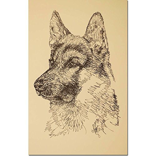 Stephen Kline German Shepherd Dog Lithograph