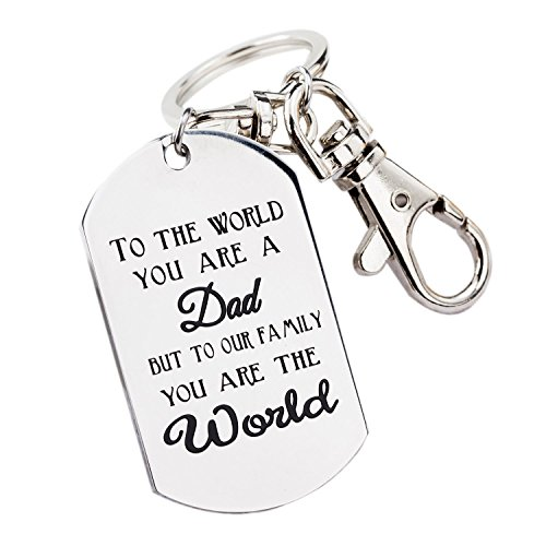 Eternal Classical Mens Keychain or Necklace Gift for Dad Keychain or Necklace Fathers Day Gift Birthday Gift Stainless Steel (keychain) ()