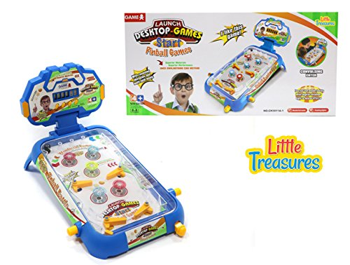 Little Treasures Pinball Arcades Soccer Game – Kids can Play Soccer on a Green Turf in The Pinball Style Table Board Game