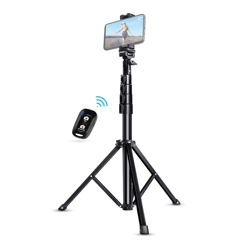 Selfie Stick Tripod, UBeesize 51'' Extendable Tripod Stand with Bluetooth Remote for iPhone & Android Phone, Heavy Duty Aluminum, Lightweight by UBeesize