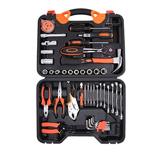 ICOCO Precision Tool Kit for Auto Repair Home Maintenance with Plastic Toolbox Storage Case,55-Piece by ICOCO (Image #1)