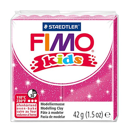 STAEDTLER 42 g Fimo Kids Individual Blocks (Glitter Pink) (Staedtler Arco Compass Set)