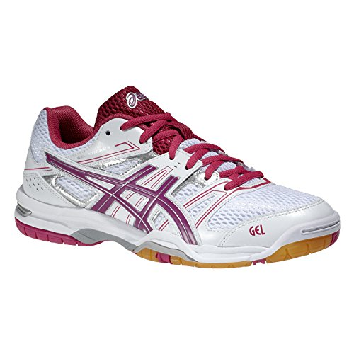Gel Femme Volleyball Chaussures blanc Asics 7 Rocket rose de ZaqAwwd