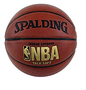 "Spalding NBA Tack Soft Basketball - Official Size 7 (29.5"") 64-435F by Spalding Sporting Goods"