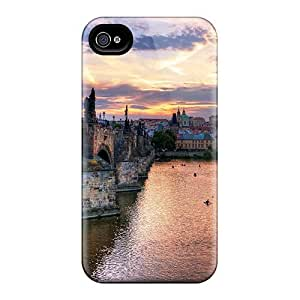 Luoxunmobile333 KJz16057XVtw Cases For Case Iphone 5/5S Cover With Nice Boat Racing On The River In Prague At Sundown Appearance