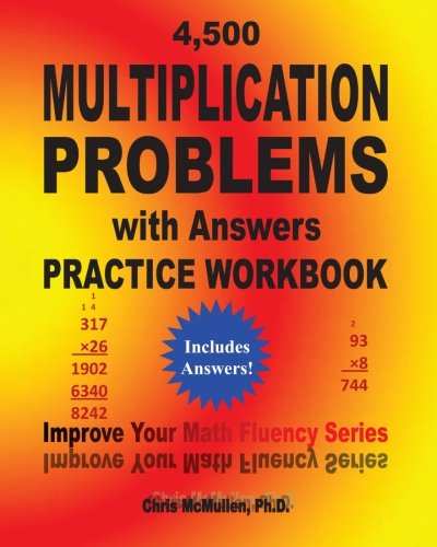 4, 500 Multiplication Problems with Answers Practice Workbook ...