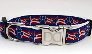 product image for Stars and Paws Custom Dog Collar (Optional Matching Leash Available) M/L