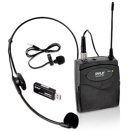 Amazon.com: Pyle USB Micrófono inalámbrico Cinturón Pack ...
