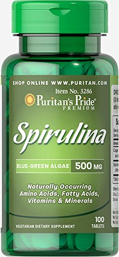Puritan's Pride Spirulina 500 mg-100 Tablets Review