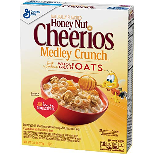 (Honey Nut Cheerios Medley Crunch Cereal 13.1 oz Box (pack of)