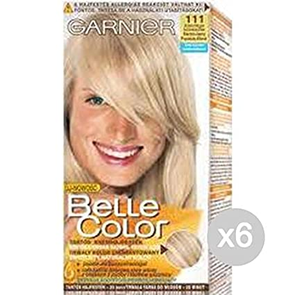 Set 6 Belle Color 111 Biondo Chiarissimo Cenere Tinta E