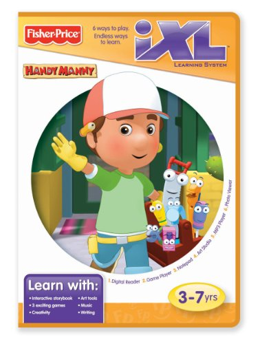 Fisher-Price iXL Learning System Software Disney Handy Manny