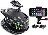 Dirt Bike Helmet Camera Smartphone Mount for iPhone, Samsung Galaxy, & All Smartphones for Video & GPS