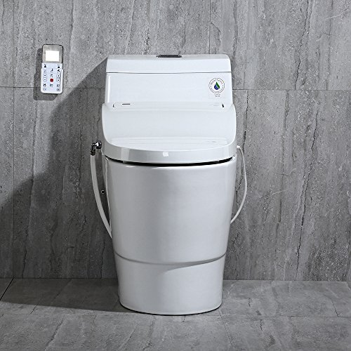 WoodBridge T-0008 Luxury Bidet Toilet, Elongated One Piece Toilet with Advanced Bidet Seat, Smart Toilet Seat with Temperature Controlled Wash Functions and Air Dryer by Woodbridgebath (Image #3)'