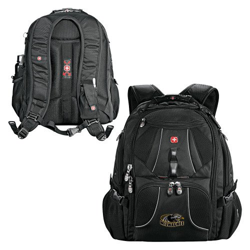 Wisconsin Milwaukee Wenger Swiss Army Mega Black Compu Backpack 'Official Logo' by CollegeFanGear