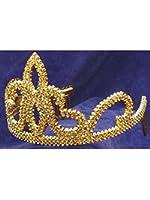 Forum Novelties Gold Plastic Princess Tiara with Combs