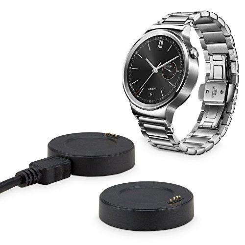 Huawei Watch Stand and Mount, BoxWave [Dock] Desktop Syncing and Charging Cradle for Huawei Watch - Jet Black