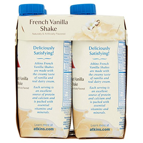 Atkins Ready To Drink Shake, French Vanilla, 11 Ounce, 4 Count (Pack of 2)
